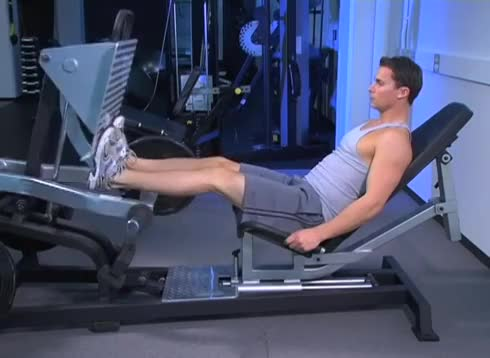 Male Lever Seated Calf Press (plate loaded) demonstration