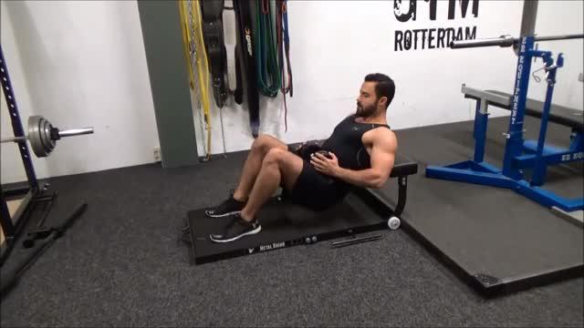 Dumbbell Hip Thrust demonstration