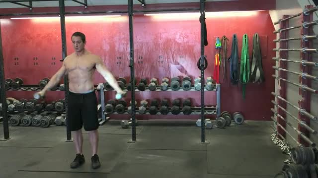 Male Dumbbell 6 Ways (Raise) demonstration