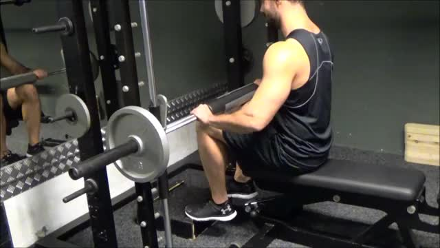 Smith Machine Seated Calf Raise demonstration