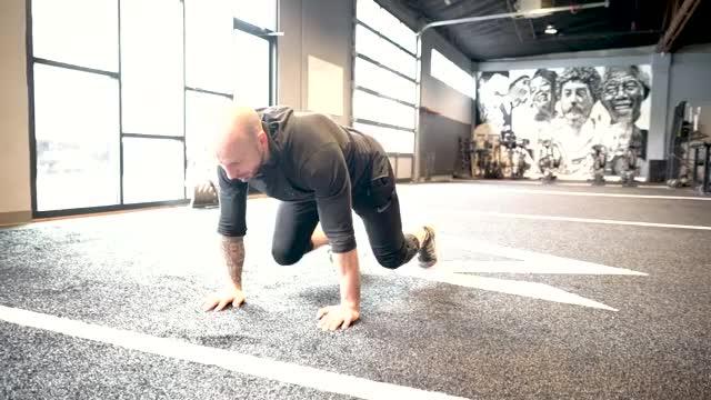 Crawl Push Up to Squat Jump demonstration