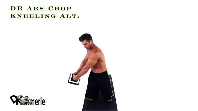 Male Dumbbell Chop demonstration