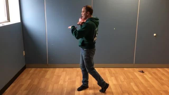 Kettlebell Rotational Clean demonstration