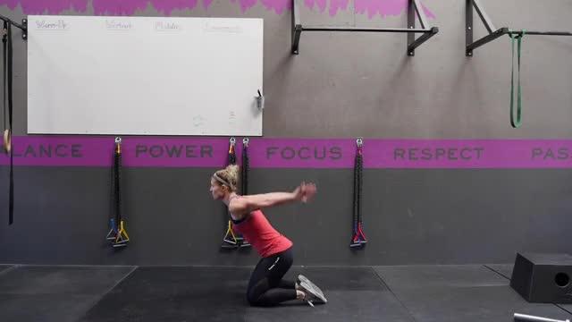 Female Kneeling Jumps demonstration