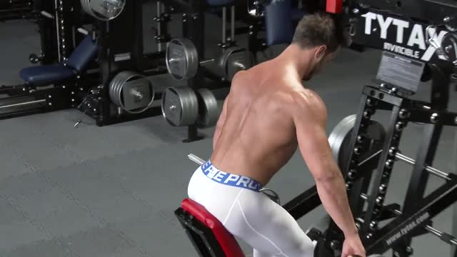 Lever Wide Grip Bent-over Row (plate loaded) demonstration