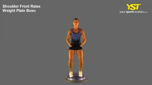 BOSU Plate Pushup to Standing Raise demonstration