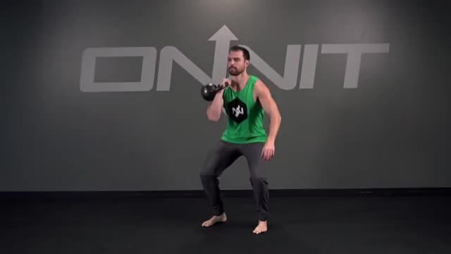 One Arm Kettlebell Front Squat demonstration