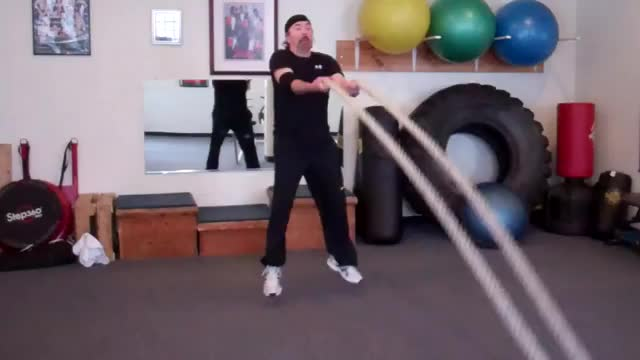 Male Rope Wave Jump demonstration