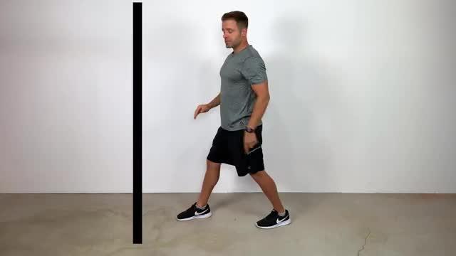 Male Floor Calf Stretch demonstration