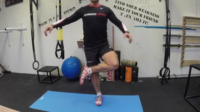 Male Figure Four Squats demonstration