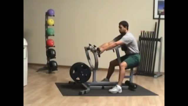 Lever Narrow Grip Seated Row (plate loaded) demonstration