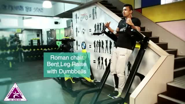 Weighted Vertical Leg Raise demonstration