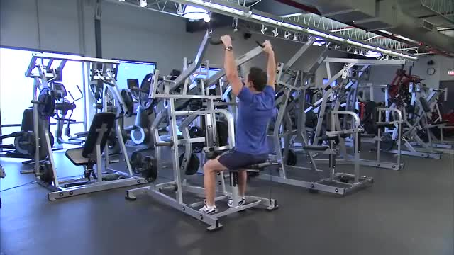 Male Lever Pulldown (plate loaded) demonstration