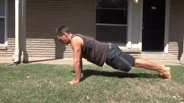 Push-up demonstration