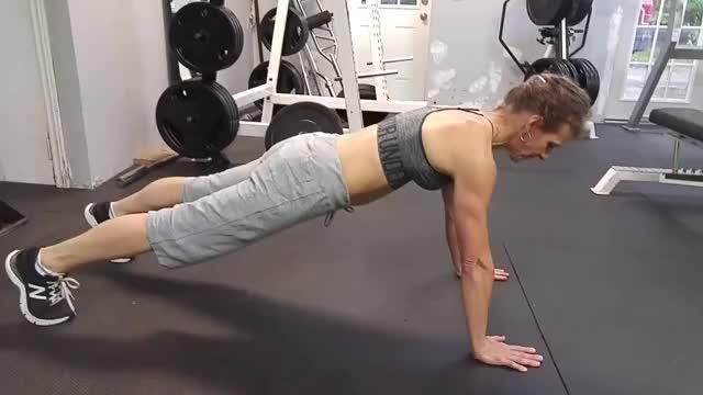 Female Push-up demonstration