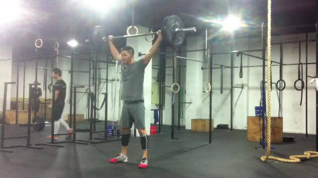 Barbell Overhead Squat demonstration