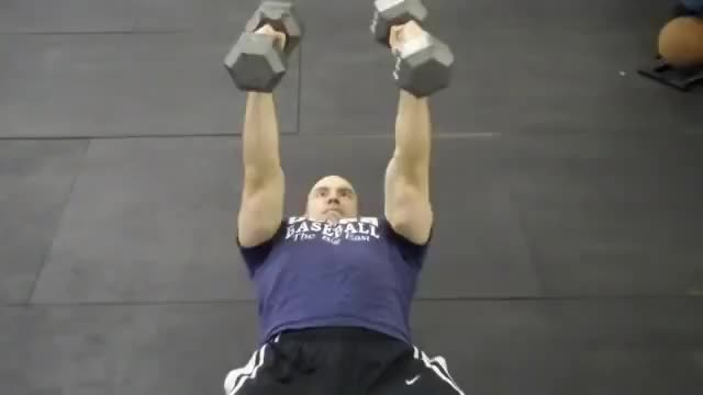 Alternating Neutral-Grip Dumbbell Bench Press demonstration