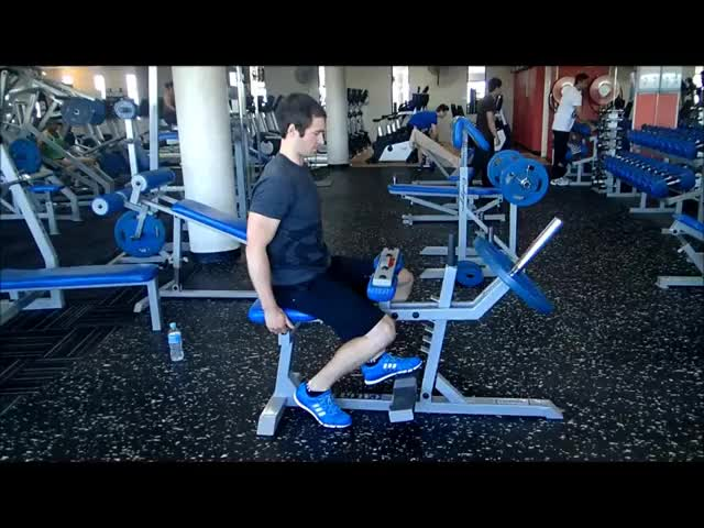 One Leg Smith Machine Seated Calf Raise demonstration