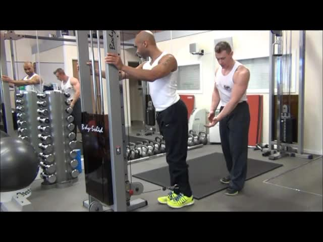 Cable Standing Leg Curl demonstration