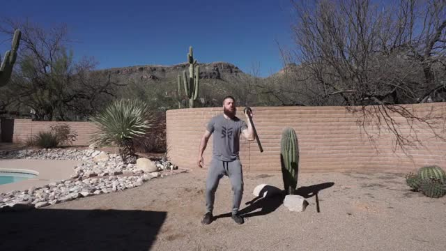 Steel Mace Swing and Toss demonstration