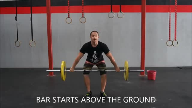 Male Hang Power Snatch demonstration