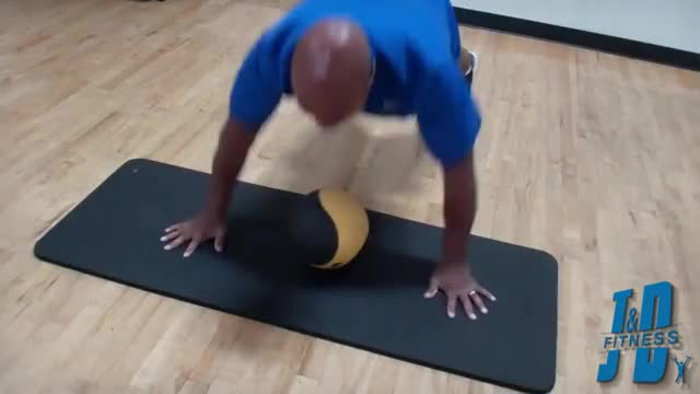 Plyo Push-up Shuffle (on medicine ball) demonstration