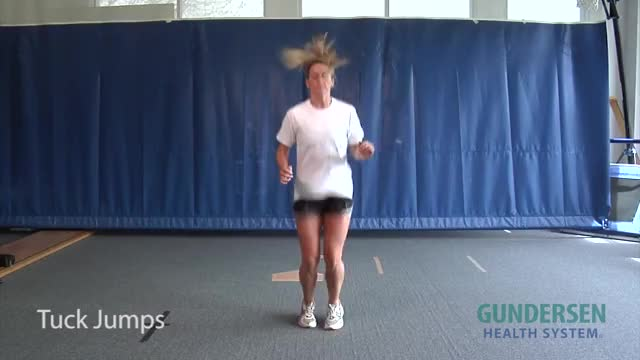 Knee Tuck Jump demonstration