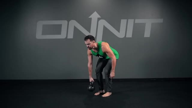 Bent Over Kettlebell Row demonstration