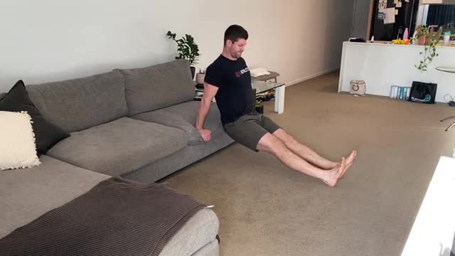 Feet Elevated Sofa Tricep Dips demonstration