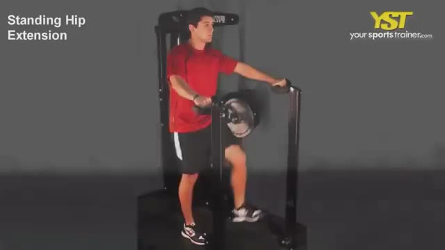 Lever Standing Hip Extension demonstration
