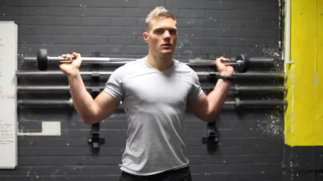 Standing Barbell Twist demonstration