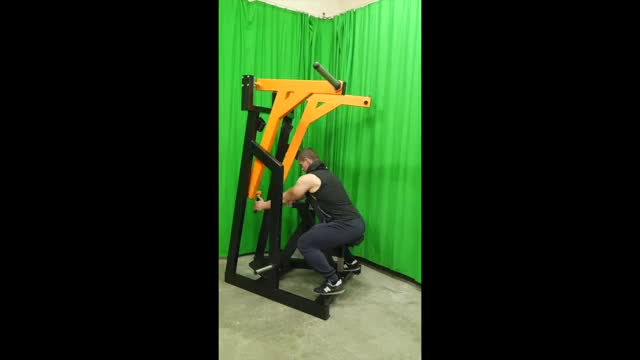 Lever Seated Low Row (plate loaded) demonstration