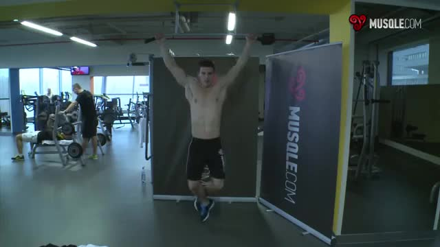 Wide-Grip Rear Pull-Up demonstration