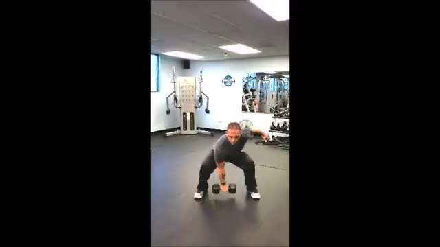 One-Arm Dumbbell Snatch demonstration