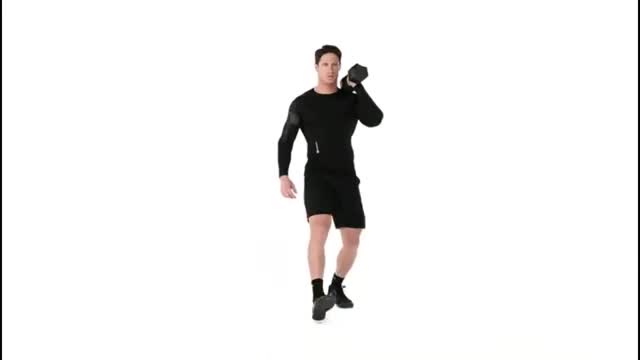 Offset Dumbbell Lunge demonstration