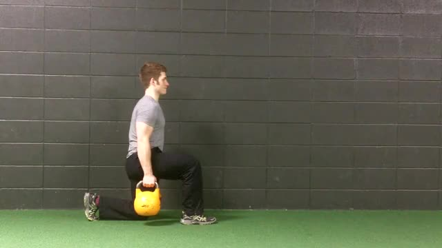 Split Squat With Kettlebells demonstration