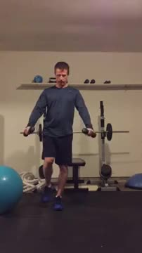 Single Leg Scaption demonstration