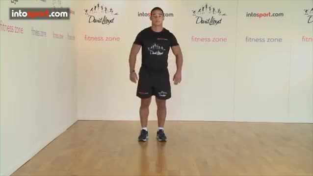 Male Lunge demonstration