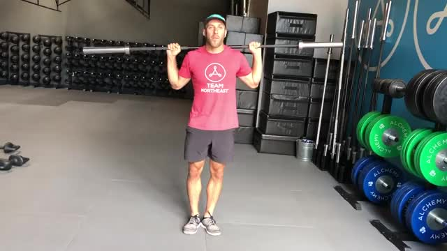 Barbell Side Bend demonstration