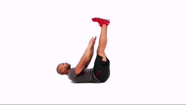 Raised-Legs Crunch demonstration