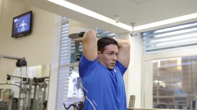 Overhead Two Dumbbell Triceps Extension demonstration
