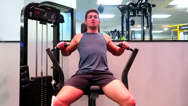 Machine Bench Press demonstration