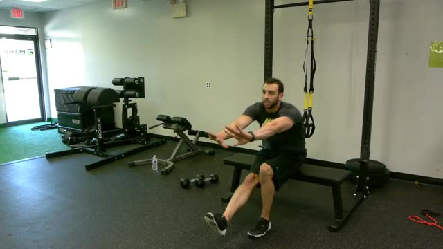 Single-Leg Bench Getup demonstration