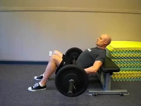 Barbell Hip Thrust with Bench demonstration