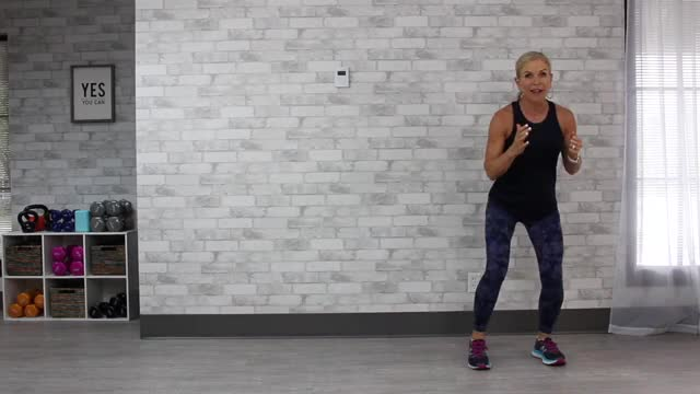 Female Lateral Shuffle demonstration