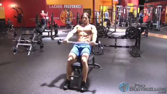 Male Barbell Incline Front Raise demonstration