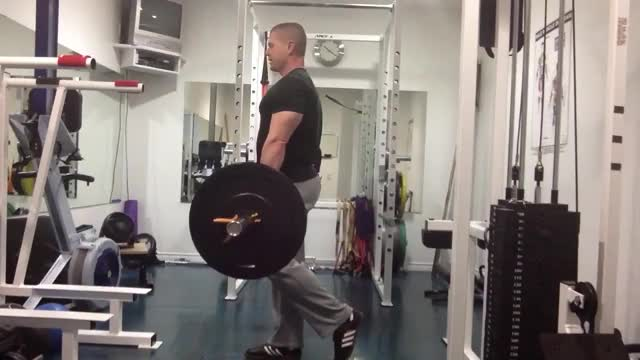 Single-Leg Barbell Straight-Leg Deadlift demonstration