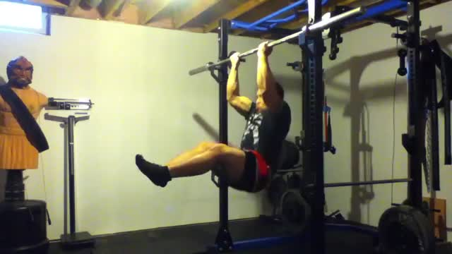 L-Sit Chin-Up demonstration