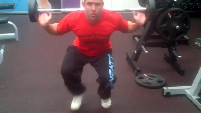 Barbell Crawl demonstration