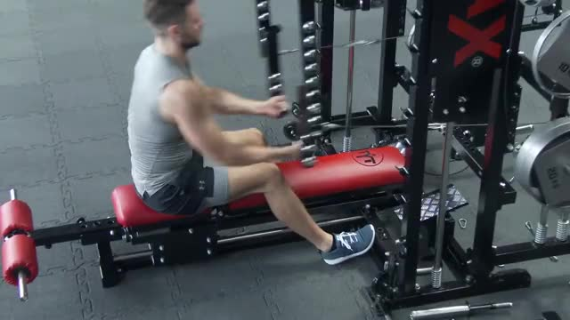 Lever Underhand Seated Row demonstration